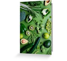 Greed raw food Greeting Card