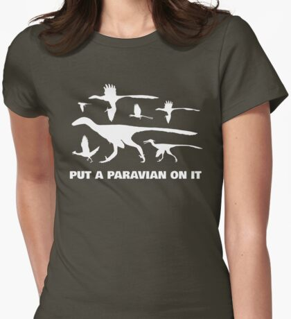 Put A Paravian On It (White) Womens Fitted T-Shirt