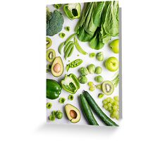 Green food on white Greeting Card