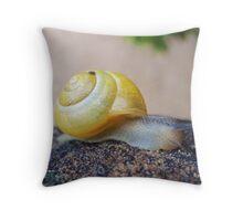 Yellow Snails Bring Joy  Throw Pillow