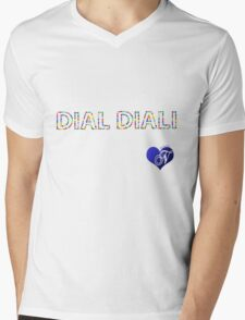 DIAL DIALI Mens V-Neck T-Shirt