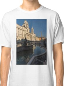 Shadow and Light - Piazza Navona in Rome, Italy  Classic T-Shirt