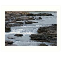 Before the Falls - Athabasca River Art Print