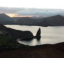 Galapagos Islands: Isla Bartolome, Pinnacle Rock at Sunset by tpfmiller