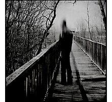 noir sur fond gris Photographic Print