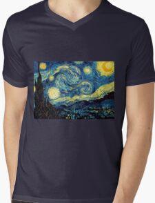 Vincent Van Gogh - Starry night  Mens V-Neck T-Shirt