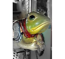 Carousel Frog Photographic Print
