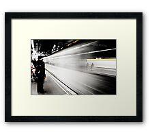 Taking the Metro Framed Print