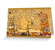 Gustav Klimt - The tree of life Greeting Card