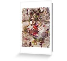 Butterfly on Blossom Watercolour Greeting Card