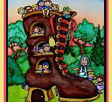There was an old woman who lived in a shoe by nicole swanbeck