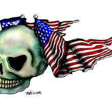 Skull and flag by nicole swanbeck