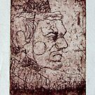 The clown (etching on paper specifically for etching) by James  Guinnevan Seymour