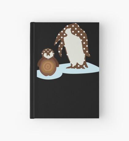 Father and Baby Penguin Hardcover Journal