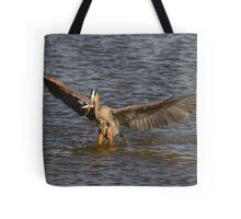 Great Blue Heron - Hovering Tote Bag