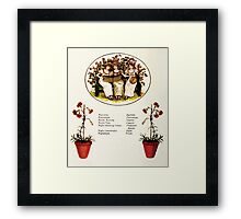 Language of Flowers Kate Greenaway 1884 0034 Descriptions of Specific Flower Significations Framed Print