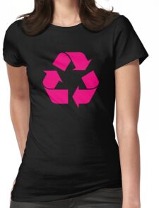 Recycle Symbol by Chillee Wilson Womens Fitted T-Shirt