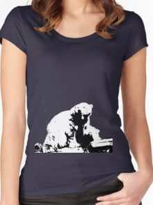 (Polar) Bear with me Women's Fitted Scoop T-Shirt