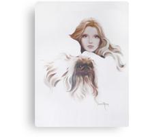 """Catherine"" Oil on Canvas Canvas Print"