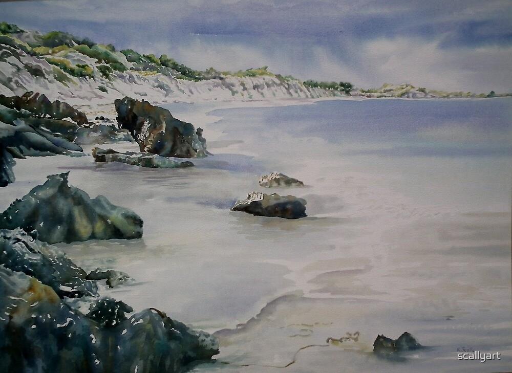 Leeman - swimming beach by scallyart
