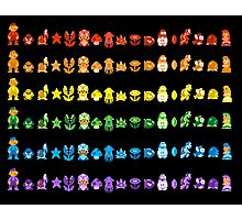 Rainbow Super Mario - Horizontal Version 1 Photographic Print