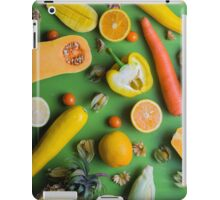 Yellow food on green iPad Case/Skin