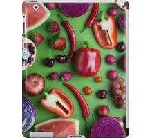 Red food on green iPad Case/Skin