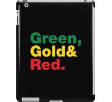 Green, Gold & Red. iPad Case/Skin