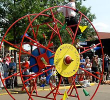 Minnesota State Fair Giant red riding wheel by Clubohara