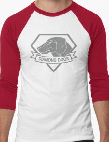Metal Gear Solid - Diamond Dogs (Gray) Men's Baseball ¾ T-Shirt