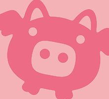 Flying Pig All in Pink by XOOXOO
