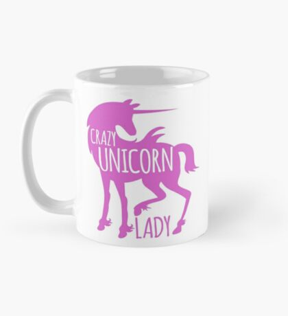 Crazy Unicorn lady in purple Mug