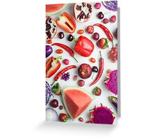Red food on white Greeting Card