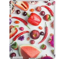 Red food on white iPad Case/Skin