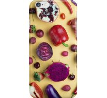 Red food on yellow iPhone Case/Skin