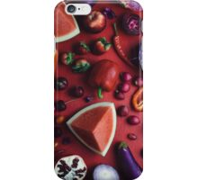 Red and purple food iPhone Case/Skin