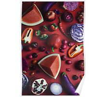 Red and purple food Poster