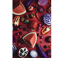 Red and purple food Photographic Print