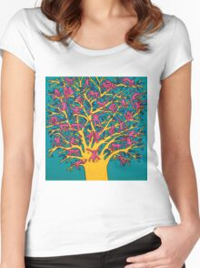 Keith Haring - Colorful tree Women's Fitted Scoop T-Shirt