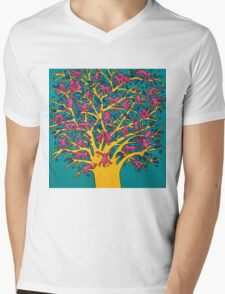 Keith Haring - Colorful tree Mens V-Neck T-Shirt