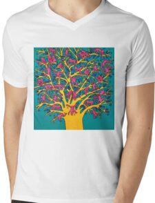 Keith Haring - Colorful tree Mens V-Neck T-Shirt