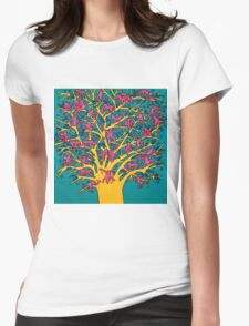 Keith Haring - Colorful tree Womens Fitted T-Shirt