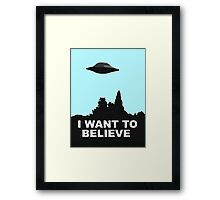 I WANT TO BELIEVE - COLOUR Framed Print