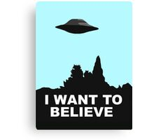 I WANT TO BELIEVE - COLOUR Canvas Print