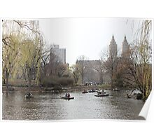 Boats in Central Park Poster
