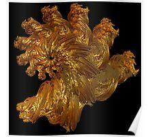 Quaternian Spiral - Spun Red Gold Poster