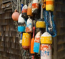Lobster Buoys and Net by Mark Van Scyoc
