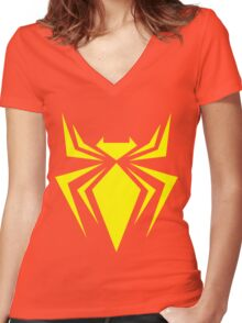 Iron Spider Women's Fitted V-Neck T-Shirt