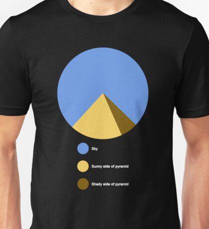 Pyramid Pie Chart Unisex T-Shirt