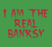 I am the Real Banksy by Chillee Wilson One Piece - Short Sleeve